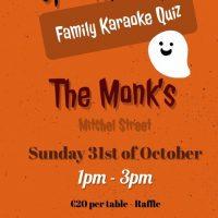 SpookTacular – Family Karaoke Quiz – Sunday 31st 1pm to 3pm
