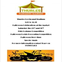 Celebrations at the Market – 23rd and 30th of October